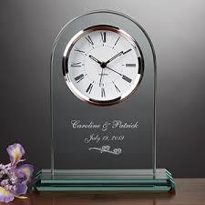 personalized wedding clocks personalized glass wedding clock everlasting design
