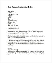 sample company resignation letter standard notice of resignation