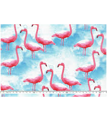 novelty cotton fabric flamingos joann