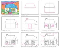draw a cottage drawing step drawings and art drawings