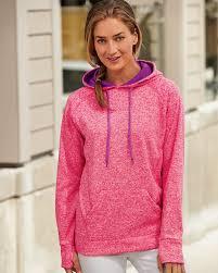 j america 8616 women u0027s cosmic fleece contrast hooded pullover