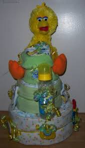 baby shower 3 tier sesame street diaper cake elmo big bird
