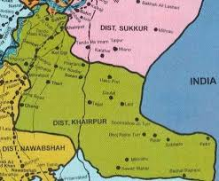 sukkur map map showing the khairpur district members of the focal