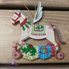 gisela graham wooden rocking gifts tree decoration