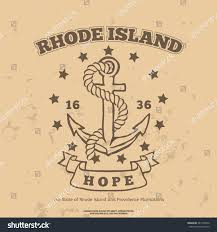 Rhode Island travel symbols images Anchor rope hope design elements tshirt stock vector 247130476 jpg
