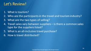 Travel and tourism management copyright texas education agency