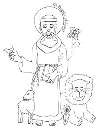 saint coloring page look to him and be radiant saints coloring pages st francis of