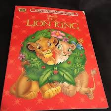 disney lion king christmas coloring book activity vintage 1995