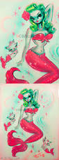 martini mermaid vintage pinup inspired mermaid with victory rolls she is