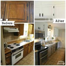 Before And After White Kitchen Cabinets Kitchen Appealing Bright White Painted Kitchen Furniture Such Wall