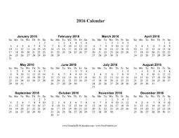 2016 large calendar calendar template 2017