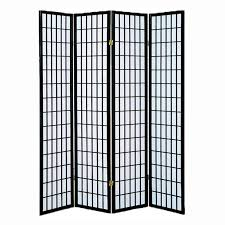room screen divider best choice products home accents 4 panel room divider black
