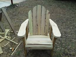 Kreg Jig Adirondack Chair Plans Adirondack Chair Made From Pressure Treated Lumber Woodworking