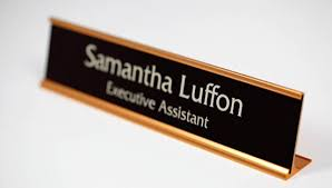 Desk Signs For Office Warm Brown Office Signs Gold Interior Signs Desk Signs