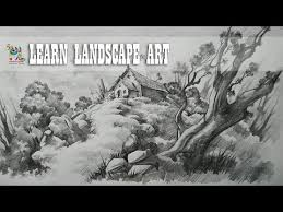learn landscape drawing and shading with pencil easy pencil art