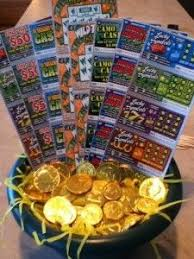 raffle baskets 16x20 frame scratch lottery tickets for class reunion