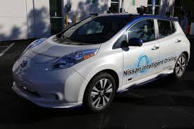nissan leaf ads what it u0027s like to ride in a self driving nissan electric leaf