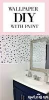 diy stencil walls bold painted wallpaper modern wall treatment
