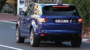 range rover dark blue 2016 estoril blue range rover sport svr cruises in monaco