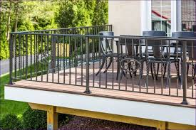 outdoor ideas awesome simple deck plans black pvc railing cool