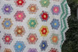 flower garden quilt pattern hexagons archives diary of a quilter a quilt blog