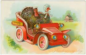 Thanksgiving Vintage Thanksgiving Cards Vintage Two Turkeys Driving