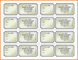 Raffle Sheet Template 5 Free Raffle Ticket Template Receipt Templates