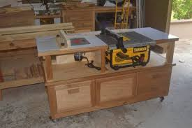 wood table saw stand table saw router cabinet finewoodworking design about best table