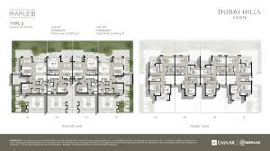 Finish Floor Plan Emaar Maple Iii Floor Plan Dubai Hills Estate Mohammed Bin
