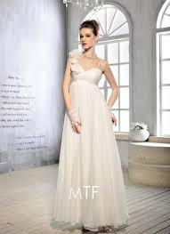 Wedding Dress On Sale White Floral Strap Long Lace Up Back Wedding Dress On Sale