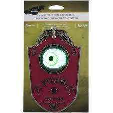 animated haunted house eyeball doorbell gemmy halloween decor