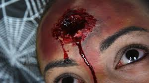 halloween fast bullet wound sfx makeup tutorial youtube