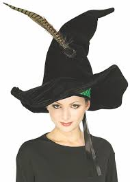Witch Halloween Costumes New Wizard Mcgonagall U0027s Hat Feather Harry Potter Witch