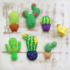 felt cactus ornament felt succulent plush cactus miniature
