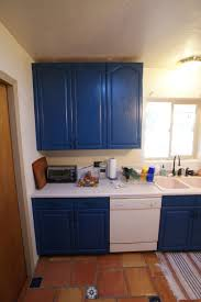 kitchen unique two tone white and navy blue kitchen cabinet and