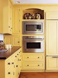 Small Kitchen Makeovers On A Budget - how to integrate a microwave