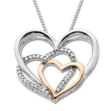 silver gold diamond necklace images Black diamonds rings pink gold diamondheart pendant jpg