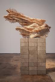 geometric wood sculpture scholars rock sculpture artwork object and