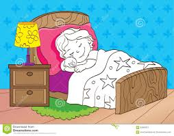 coloring book sleeping stock illustration image