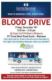 cape cod healthcare community blood drive at the cape cod