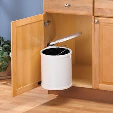 kitchen cabinet door pivot out steel small trash can 12qt waste