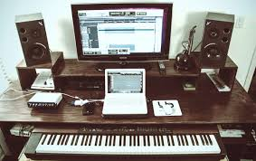 my music studio desk that i built with a friend comment for specs