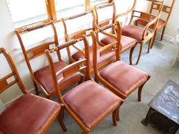 8 dining room chairs including 2 carvers good condition for age 8 dining room chairs including 2 carvers good condition for age a few light