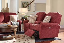 Lazy Boy Loveseat Transitional Power Reclining Loveseat With Cupholder And Storage