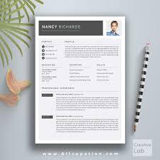 Vita Resume Template Creative Resume Template Modern Cv Word Cover Letter Downloa Saneme