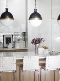 interior mirror backsplash tiles for unique kitchen decor ideas