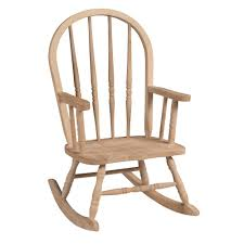 Wooden Rocking Chair Outdoor International Concepts Unfinished Wood Rocking Windsor Kids Chair