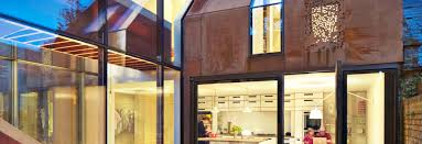 design house lighting company gorgeous modern kew house is clad in prefab weathering steel