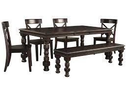pine dining room furniture signature design by ashley gerlane 6 piece solid pine dining table