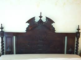 Carved Wooden Headboards Bedroom Dazzling Antique Headboard Intricately Carved Wood King